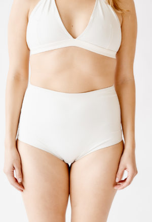 White High-Waisted Bottoms