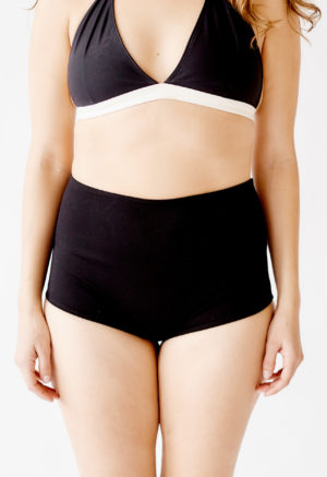 Black High-Waisted Bottoms