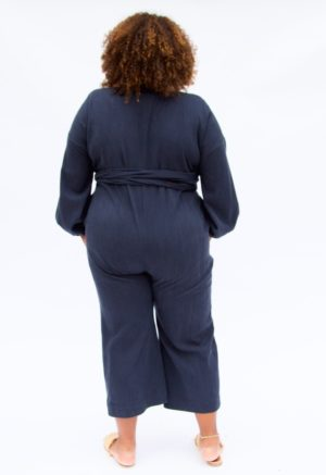 Sustain: Balloon Sleeve Reversible Wrap Jumper, +2