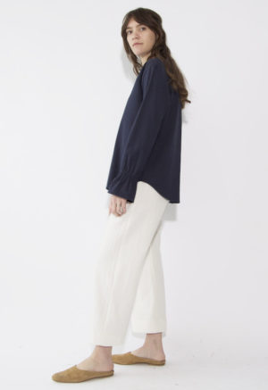 Sustain: Button-Up Bell Sleeve Top, S
