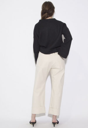 Sustain: French Seam Wide-Leg Pant, M