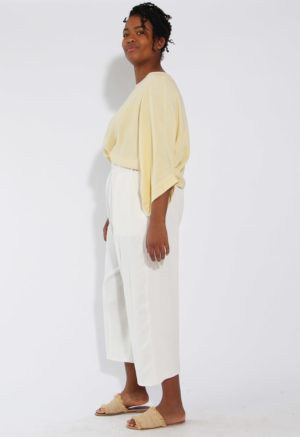 French Seam Easy Wide-Leg Pant
