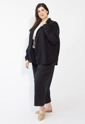 Lapel Jacket Top