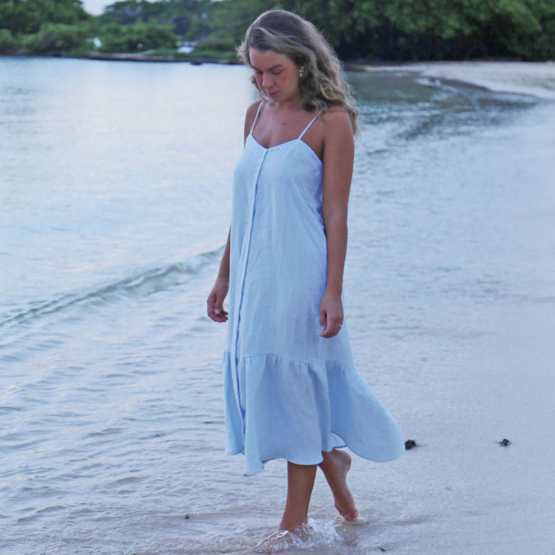Sustain: Strappy Button-Up Dress, XS