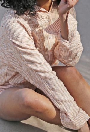 Collared Button-Up Top