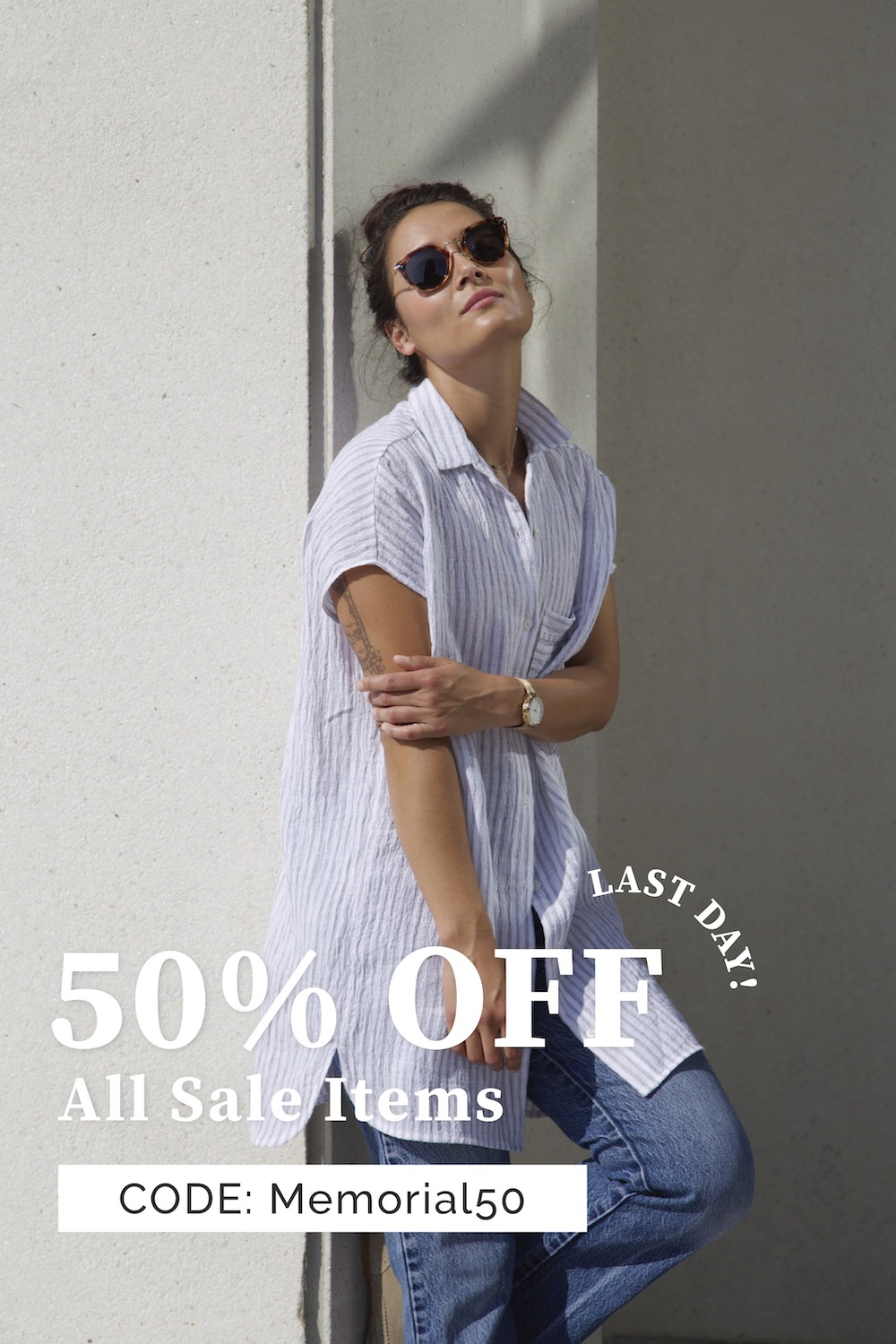 50% Off All Sale Items!