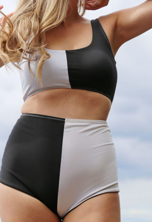 Two-Tone High-Waisted Bottoms