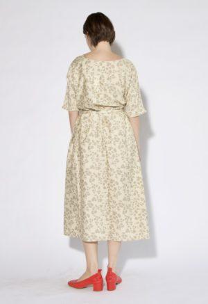 Sustain: Basics Gathered Midi Dress, XS/S