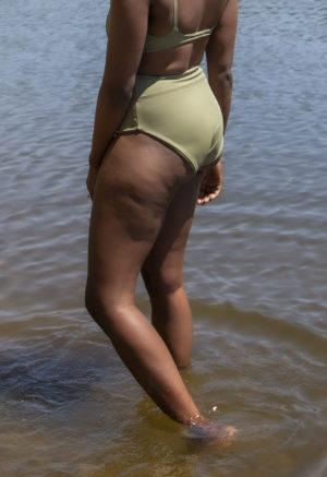 Sporty High-Waisted Bikini Bottoms